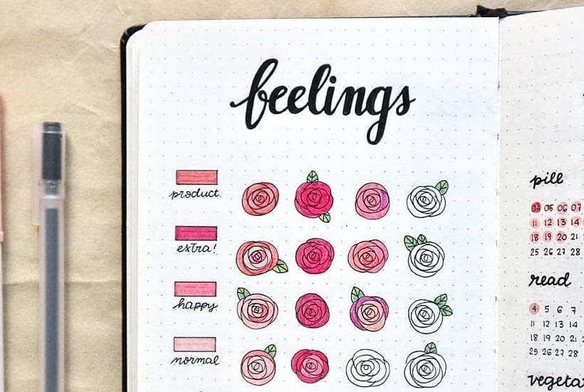 18 Bullet Journal Mood Tracker Ideas For February 2020