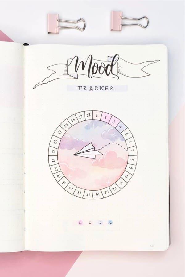 feb bullet journal mood tracker ideas