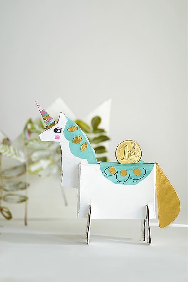 DIY Unicorn Piggy Bank craft for kids