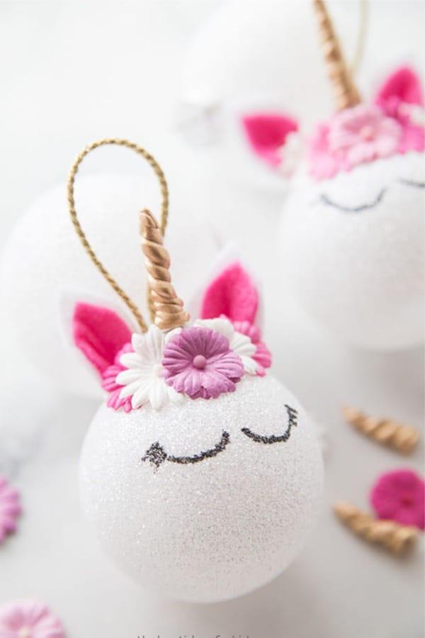 Cute DIY unicorn ornament for kids