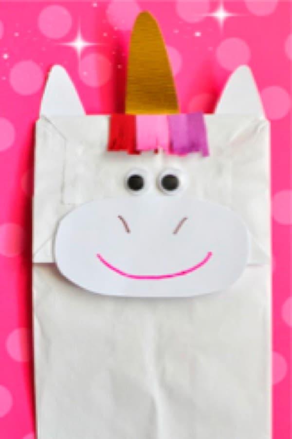 DIY paper bag fun unicorn craft
