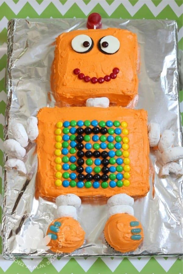 DIY robot cake