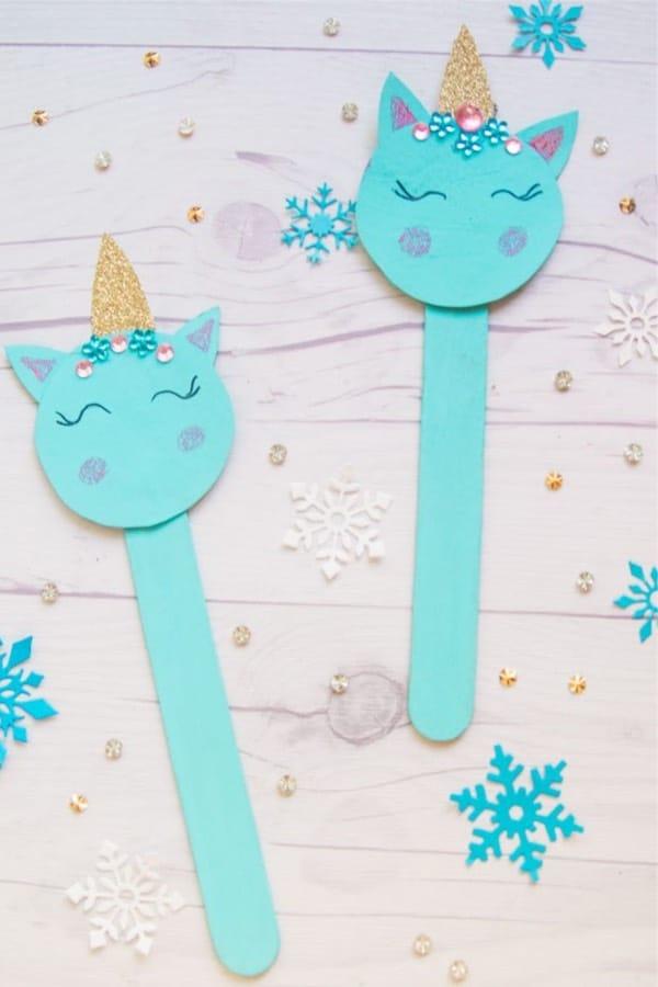 DIY Easy Unicorn Popsicle Stick Craft