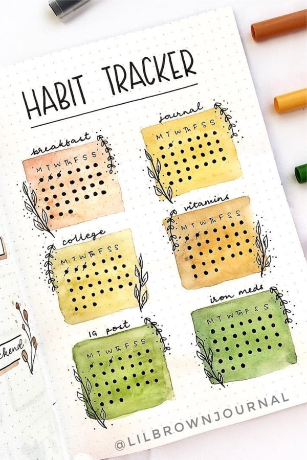 easy habit tracker with colors