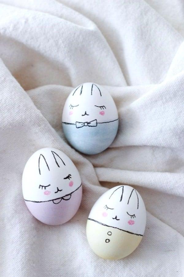 super cute easter egg bunnies