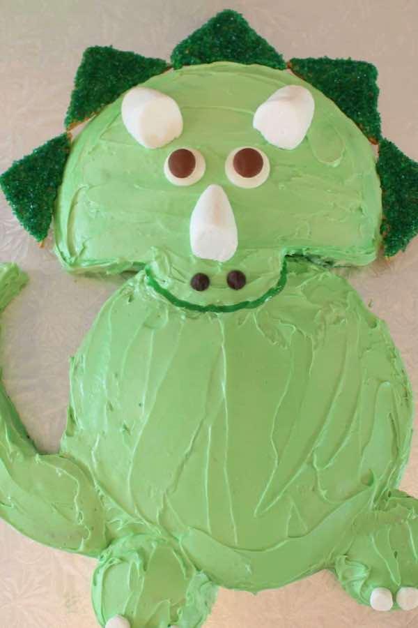 triceratops dinosaur birthday cake recipe