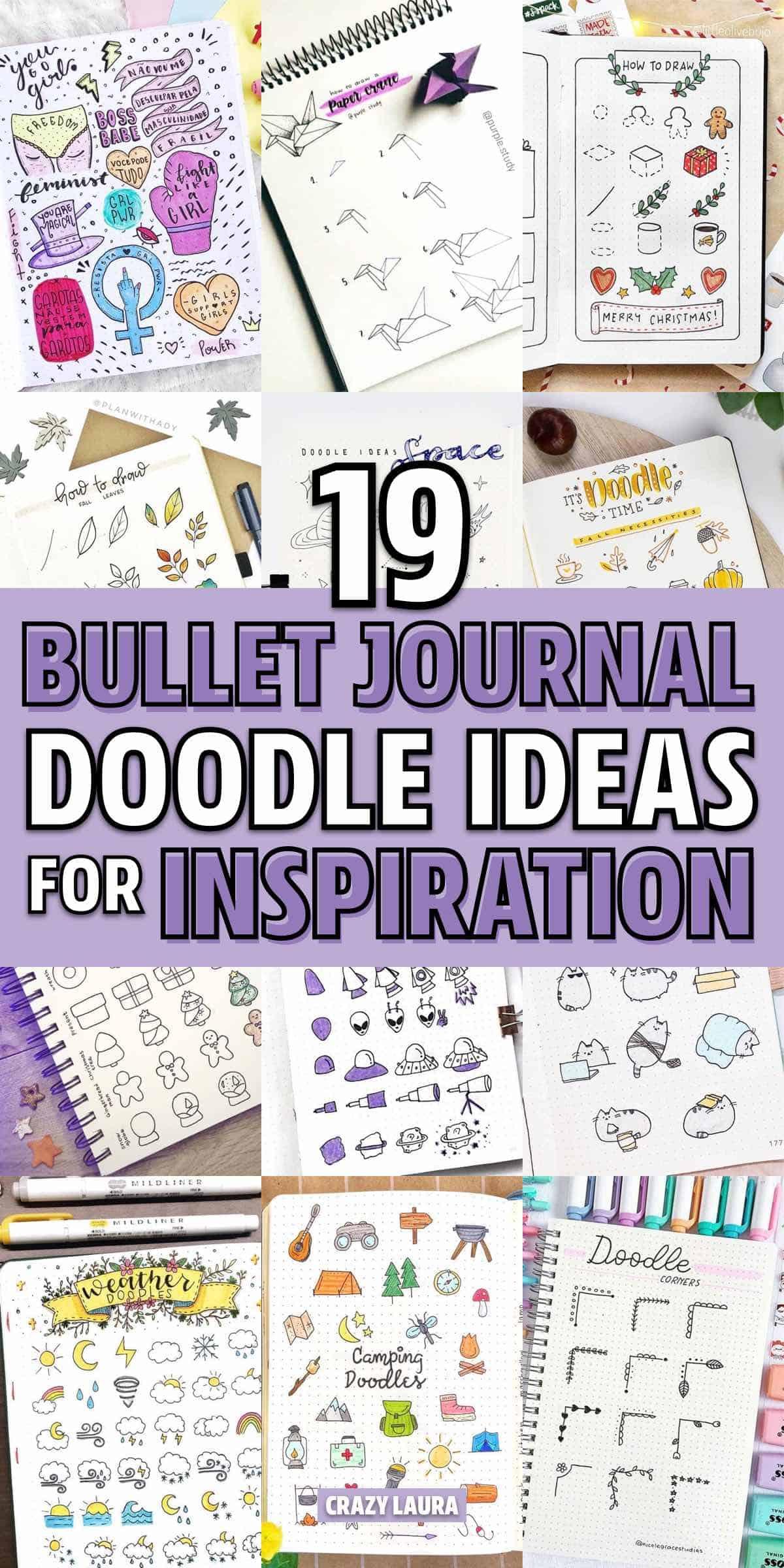 creative bujo doodle ideas