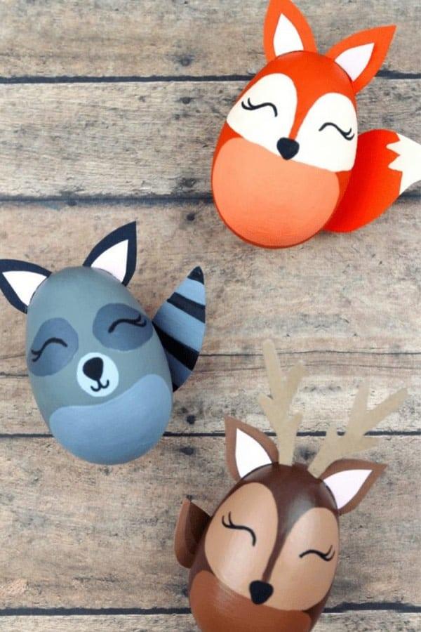 diy animal easter egg ideas for kids