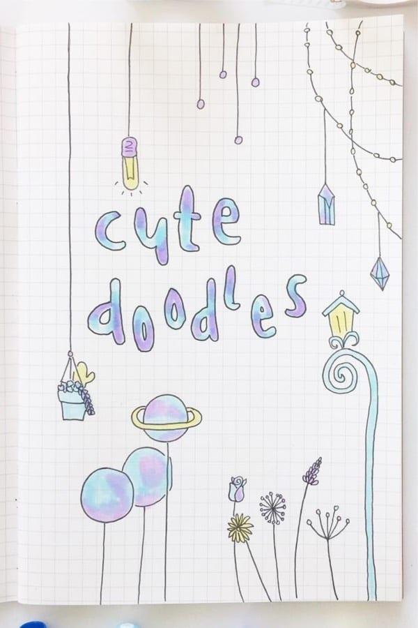 simple doodles in bullet journal