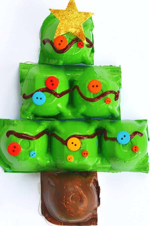 christmas theme egg carton craft