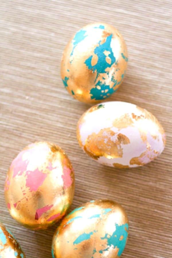 easter egg dyeing for instagram