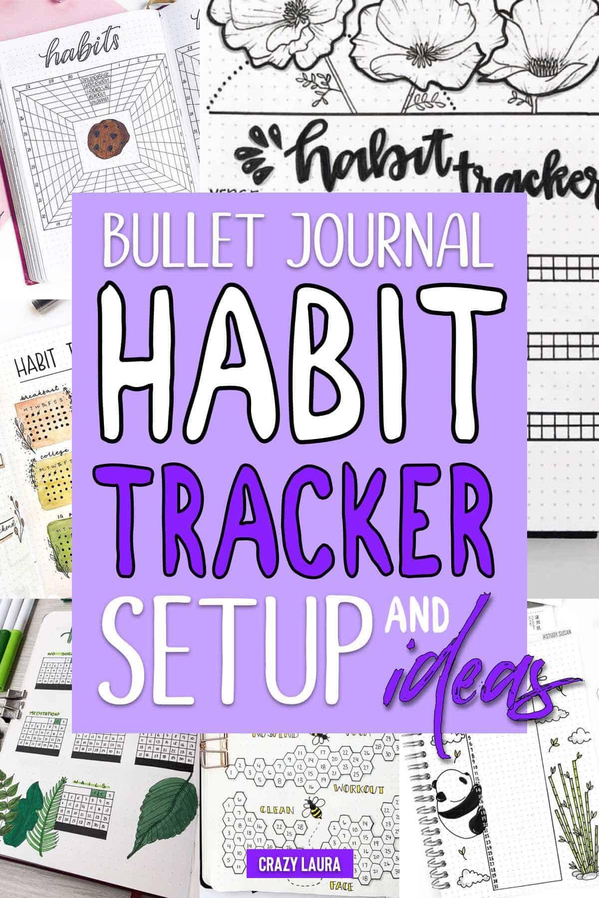 how to setup habit tracker for bujo