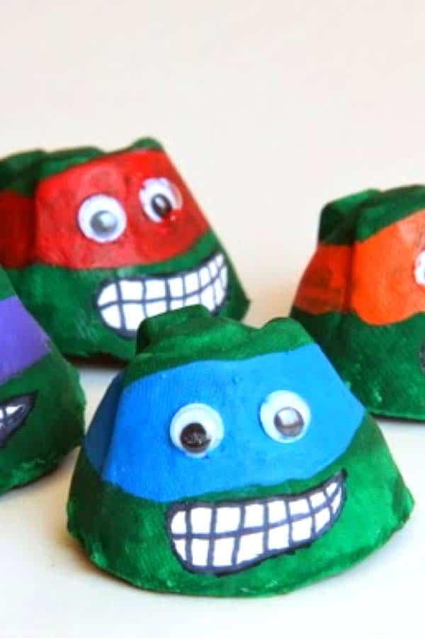 egg carton crafts for boys