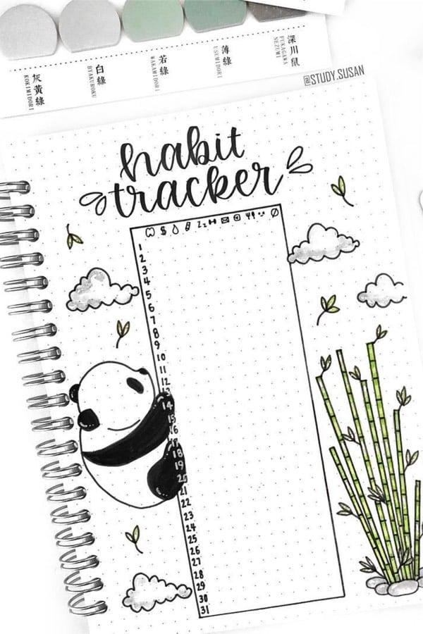 simple dot habit tracker