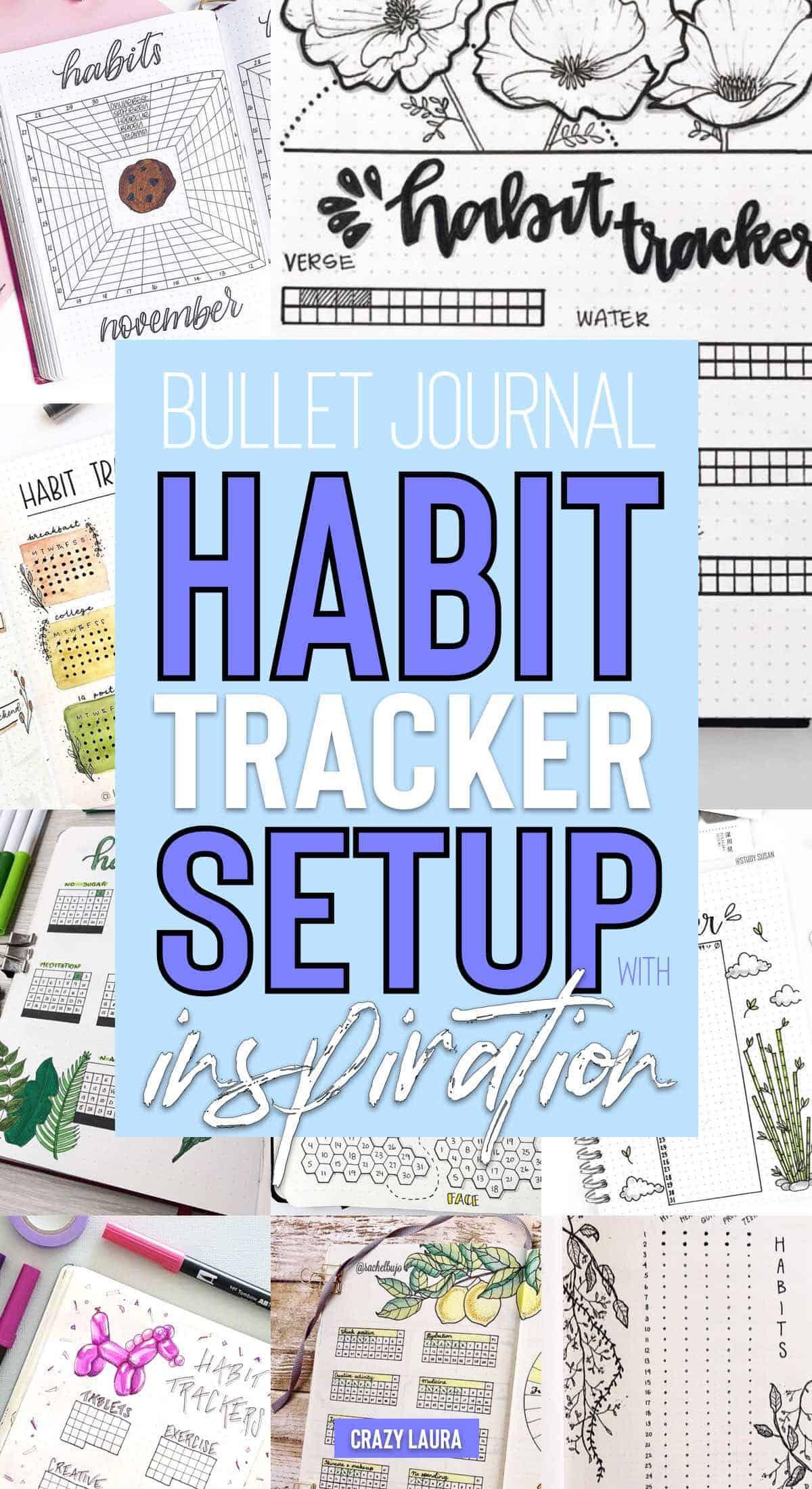 beginner guide to bujo habit tracker