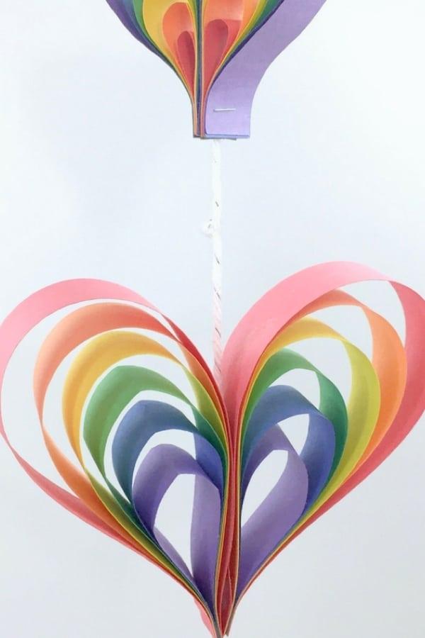 3d paper hearts diy crafts
