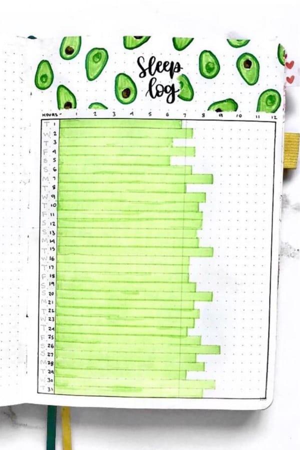 green sleep tracker