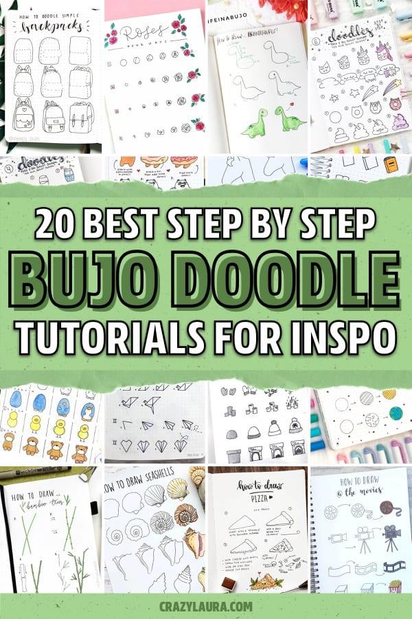 bullet journal drawing tutorials