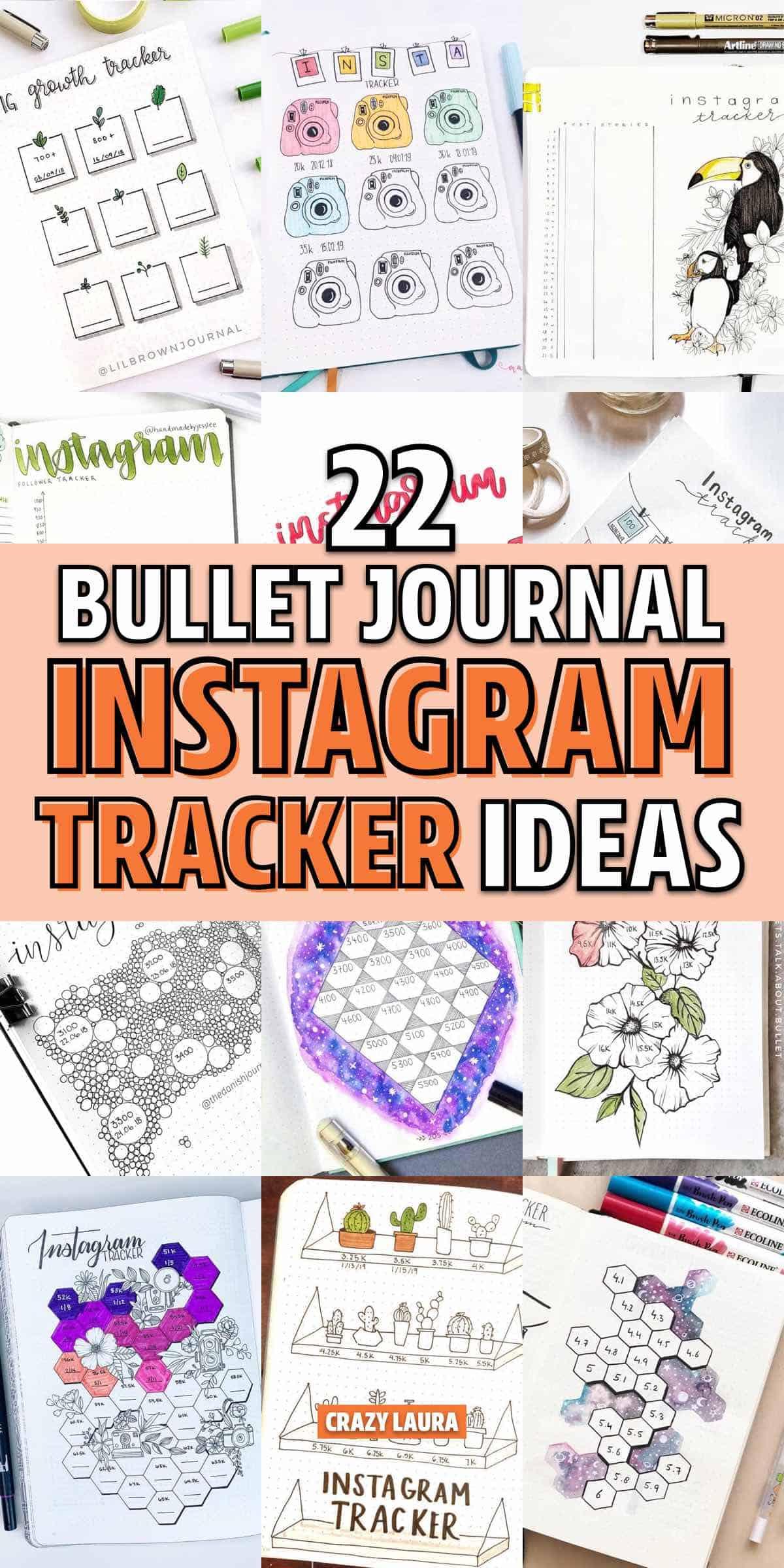 bujo instagram tracker page inspiration