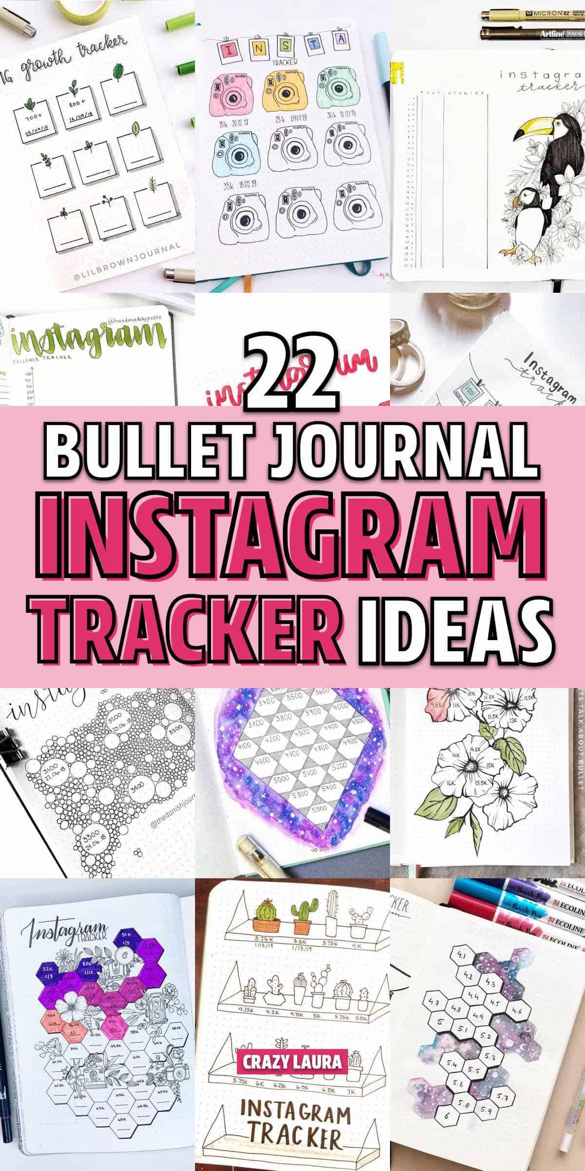 bujo spreads to track instagram