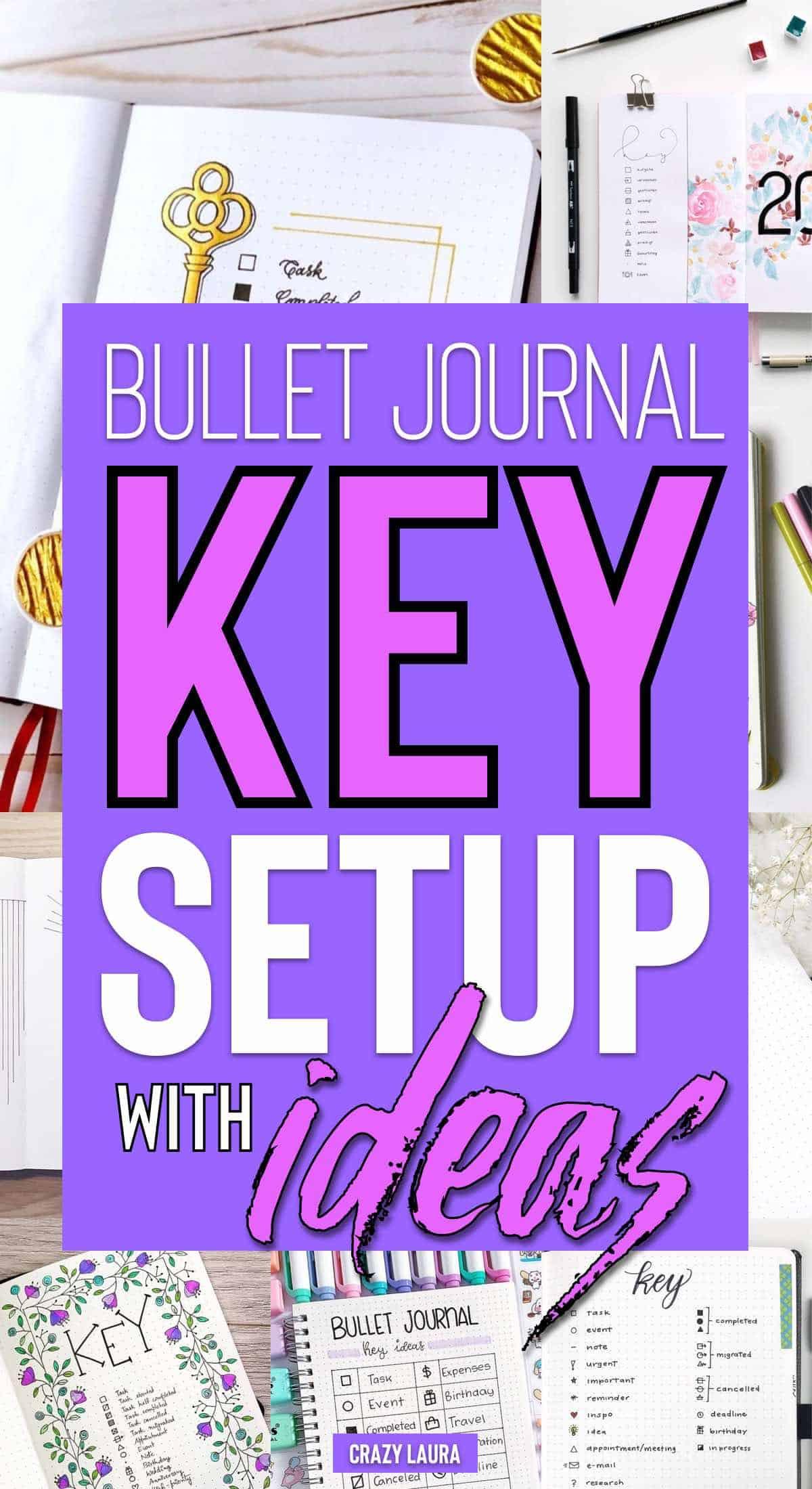 easy way to setup bujo key