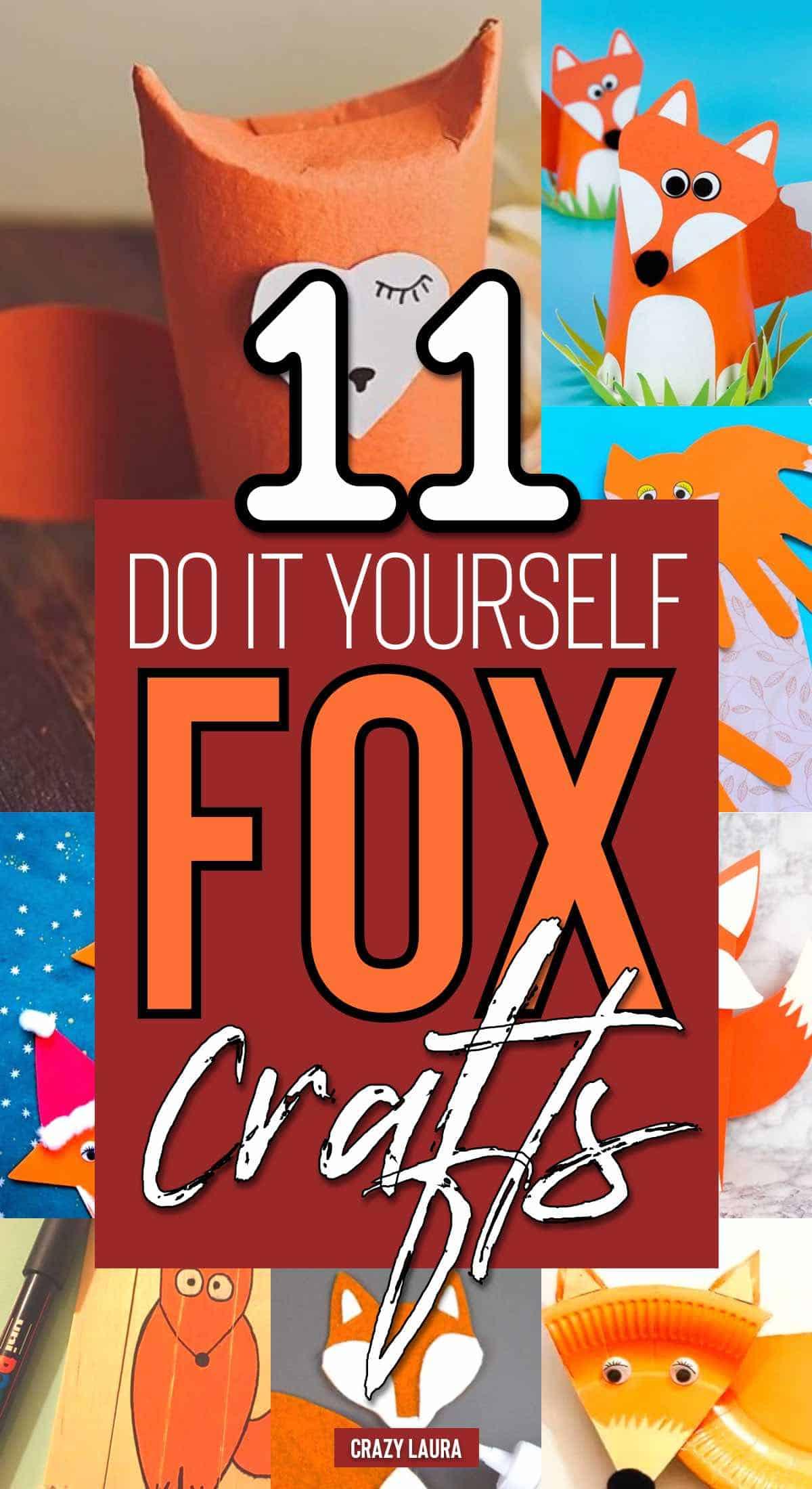 animal diy crafts with fox
