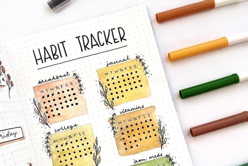 Bullet Journal Habit Tracker Setup With Amazing Inspiration
