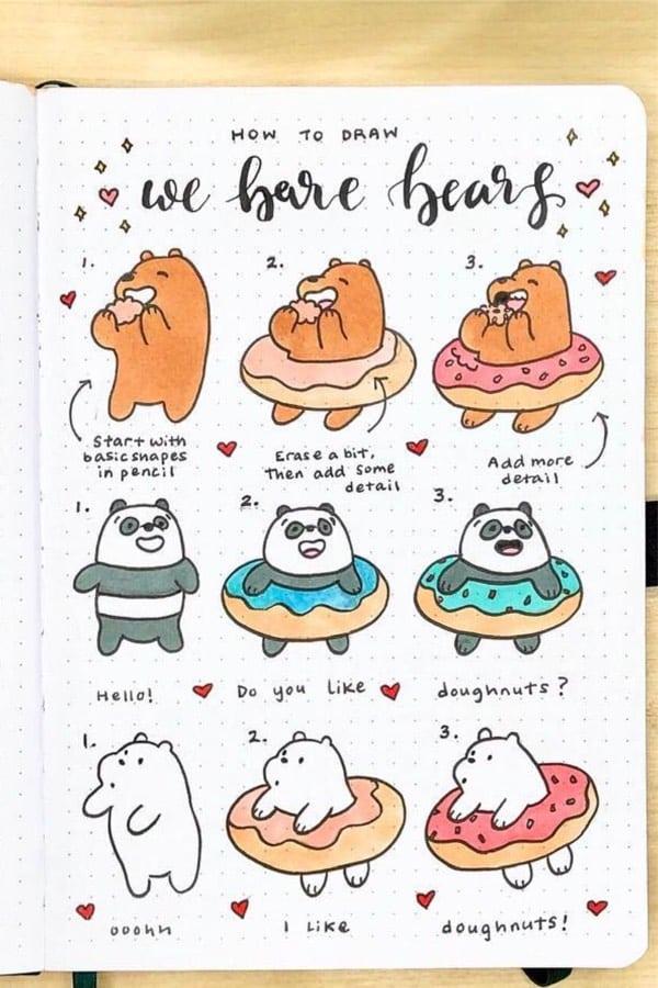 cute bear doodle