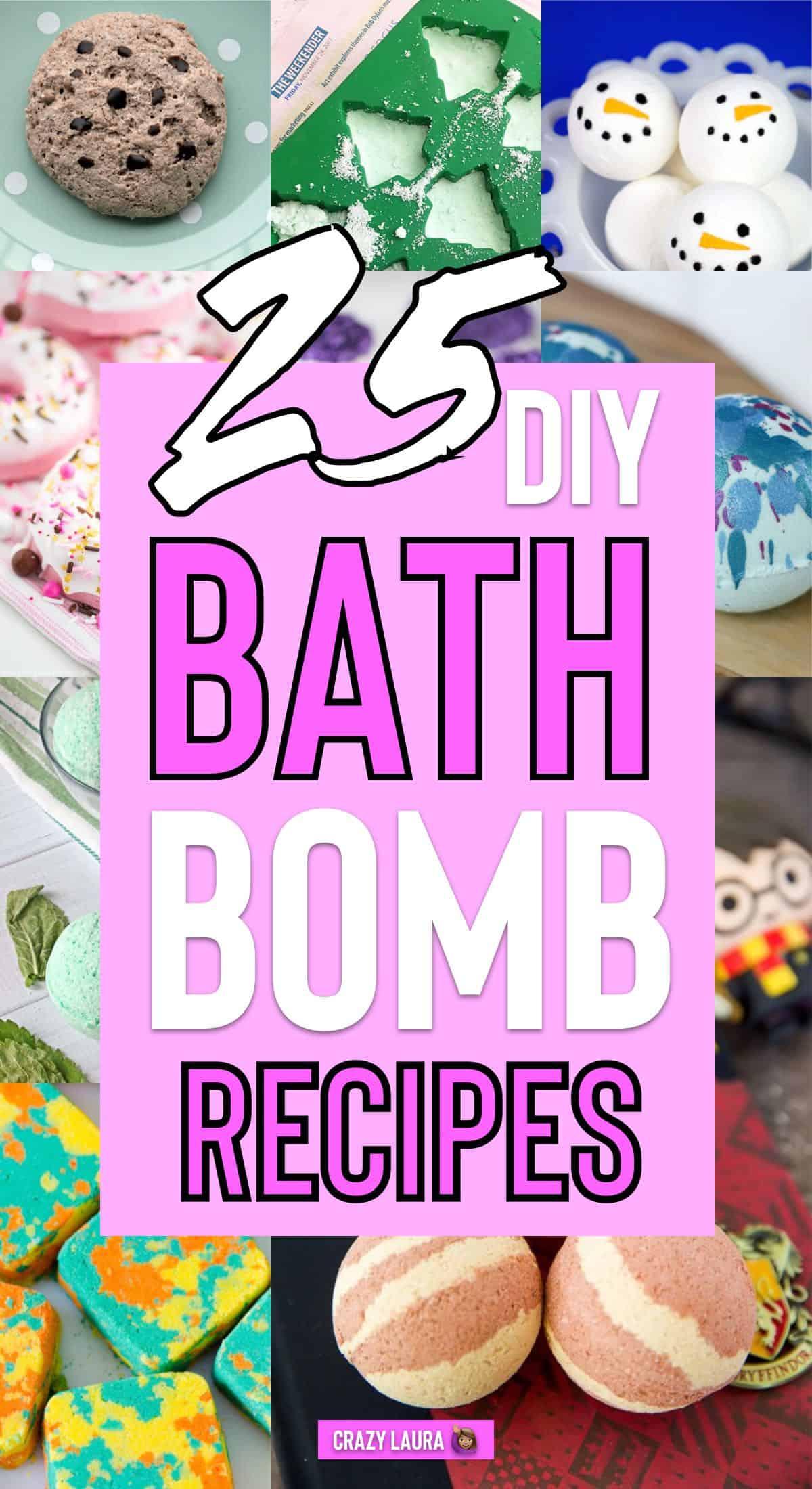 best bath bomb diy tutorials