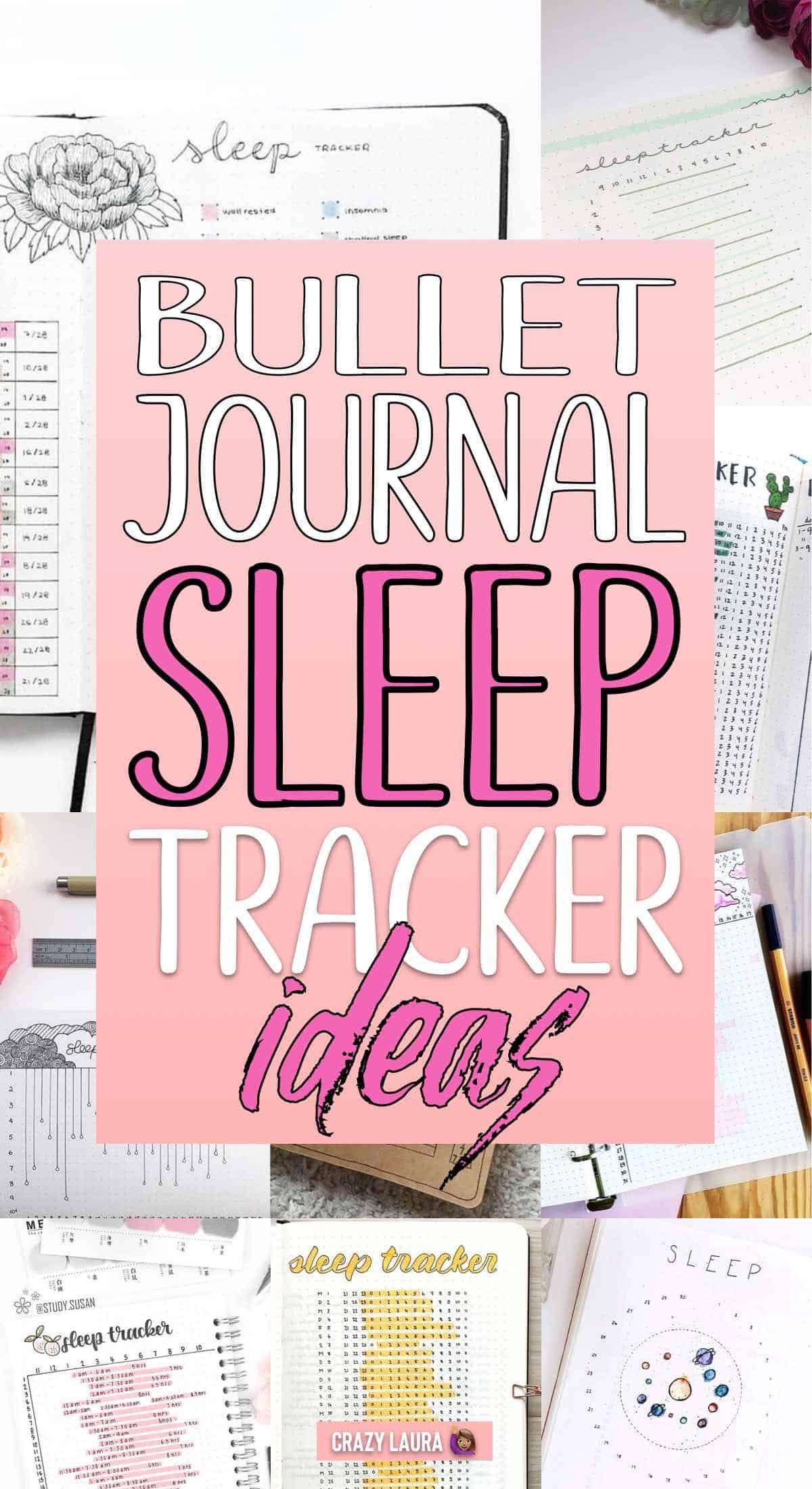 simple sleep logs for bullet journal