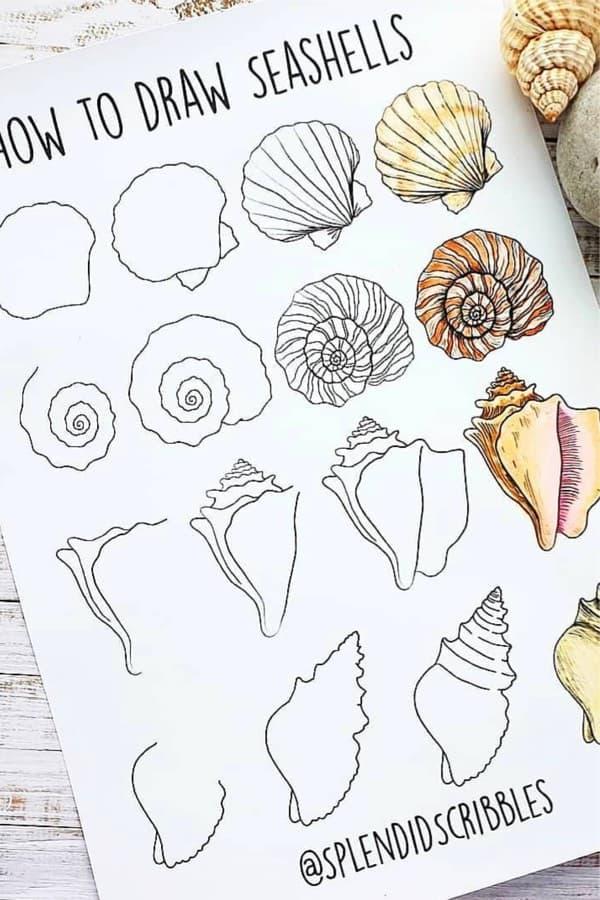 beach theme doodle bujo