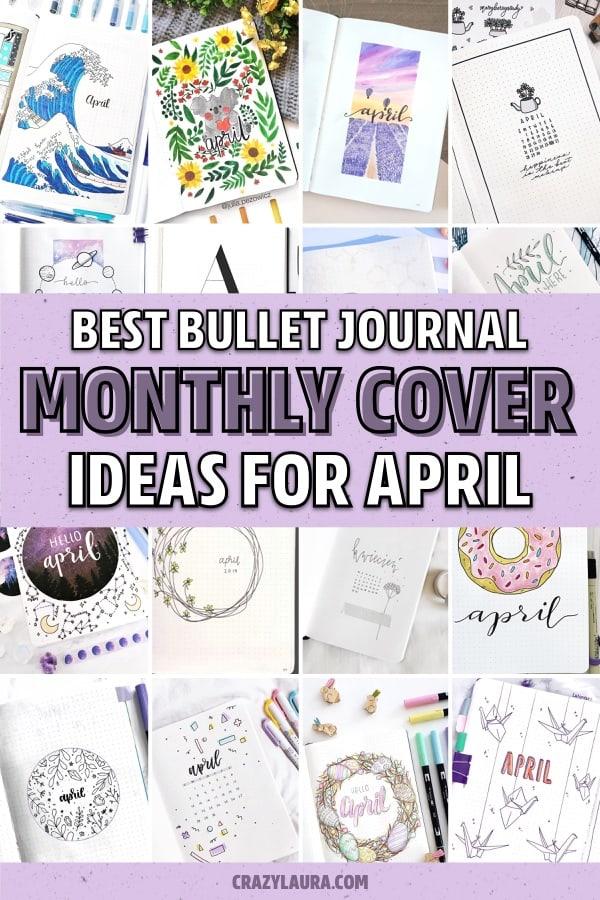 bujo cover ideas for spring