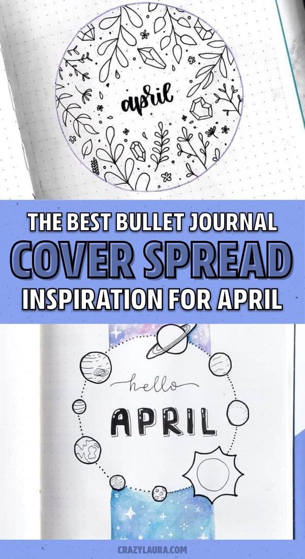 easy april bujo cover examples