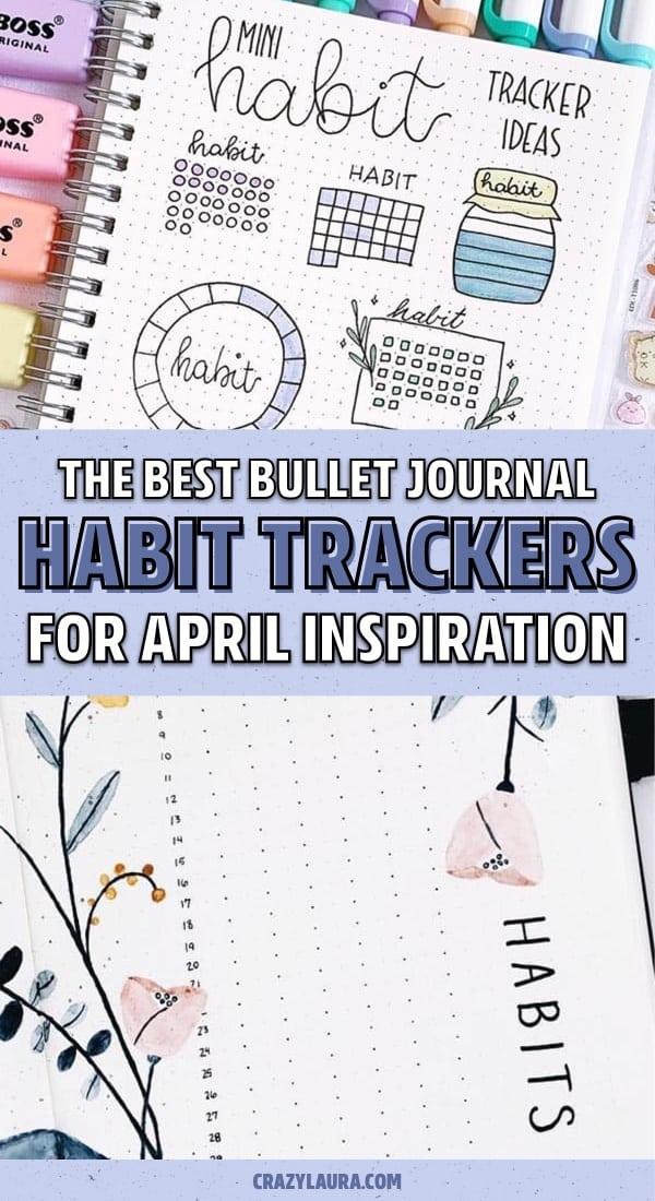 bujo tracker ideas for april
