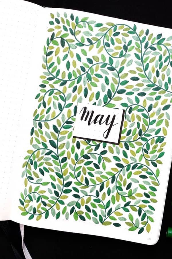 green cover for may bujo