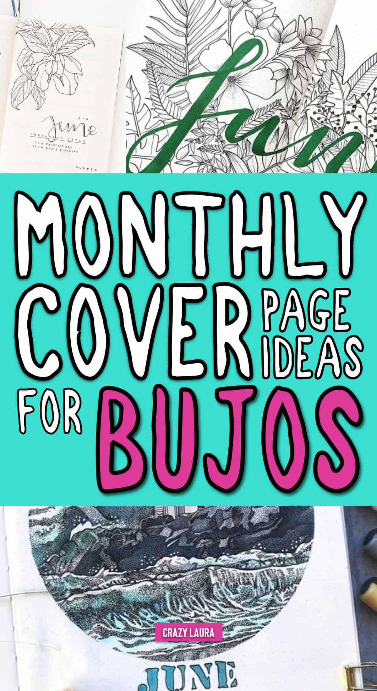list of june bujo covers