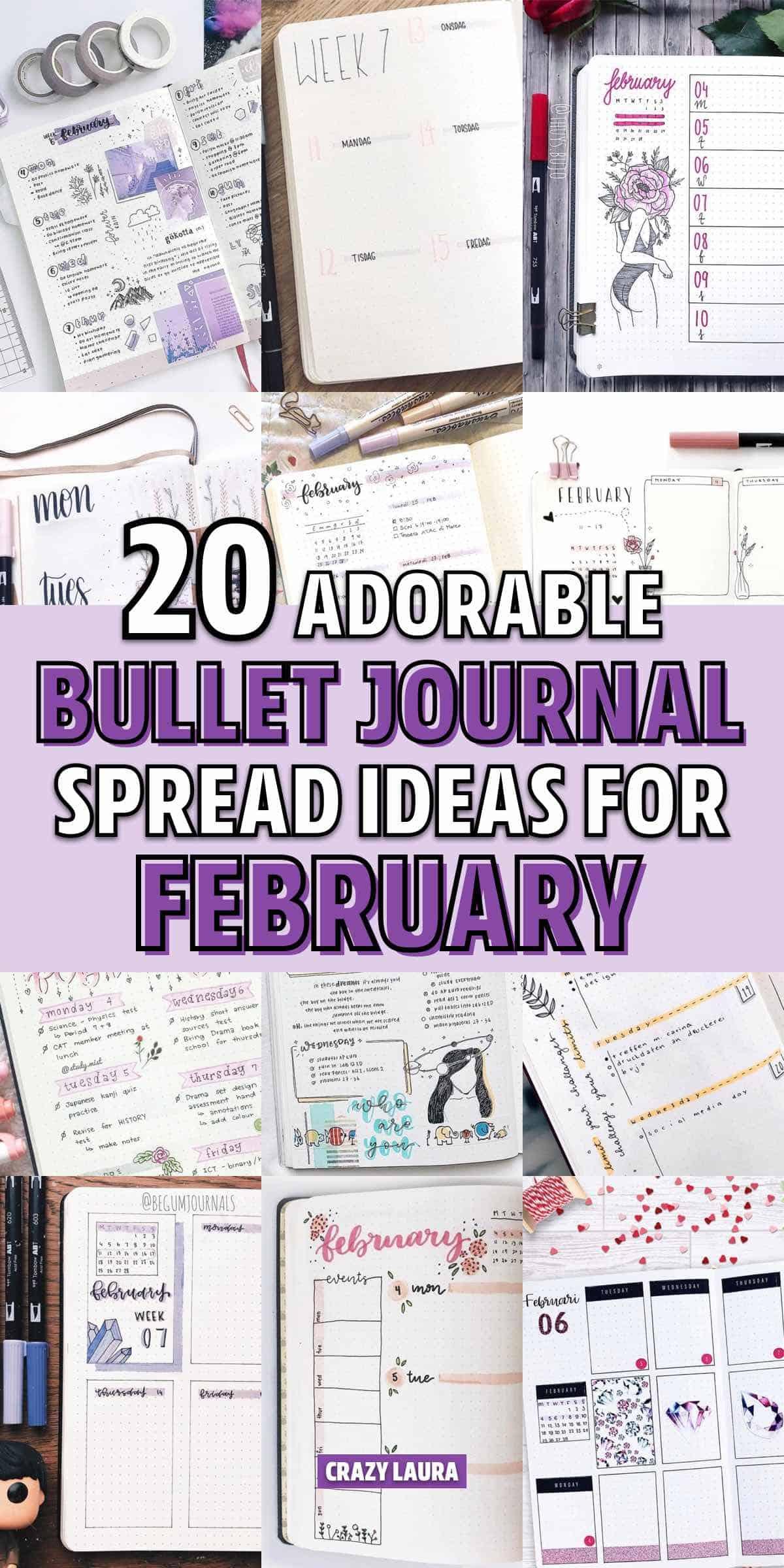 simple feb bujo ideas