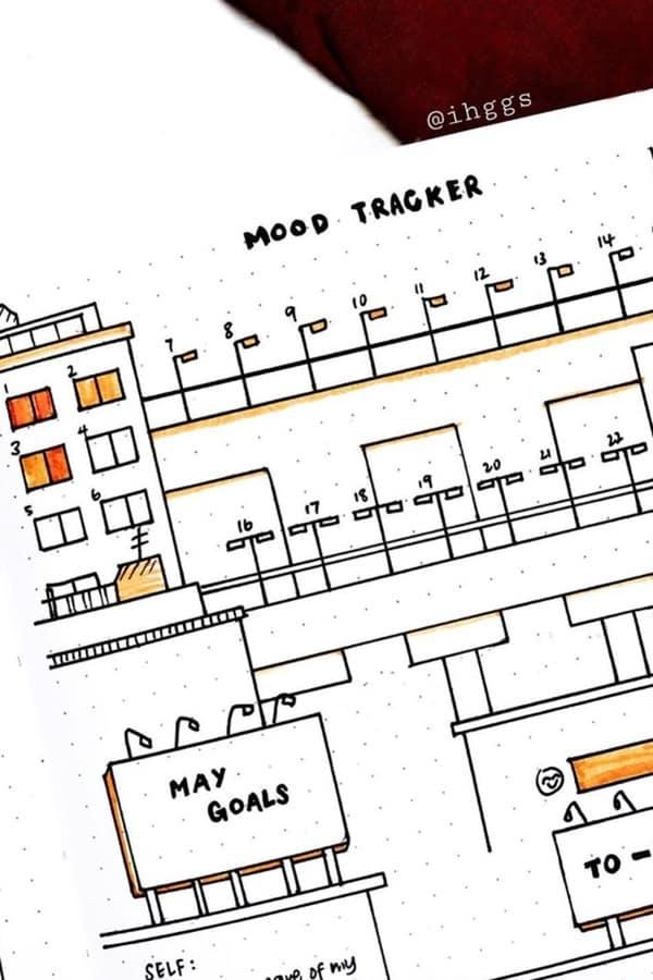 easy mood tracker ideas