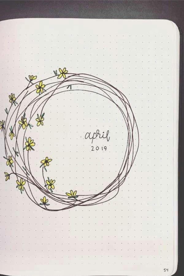 simple monthly cover with flowers