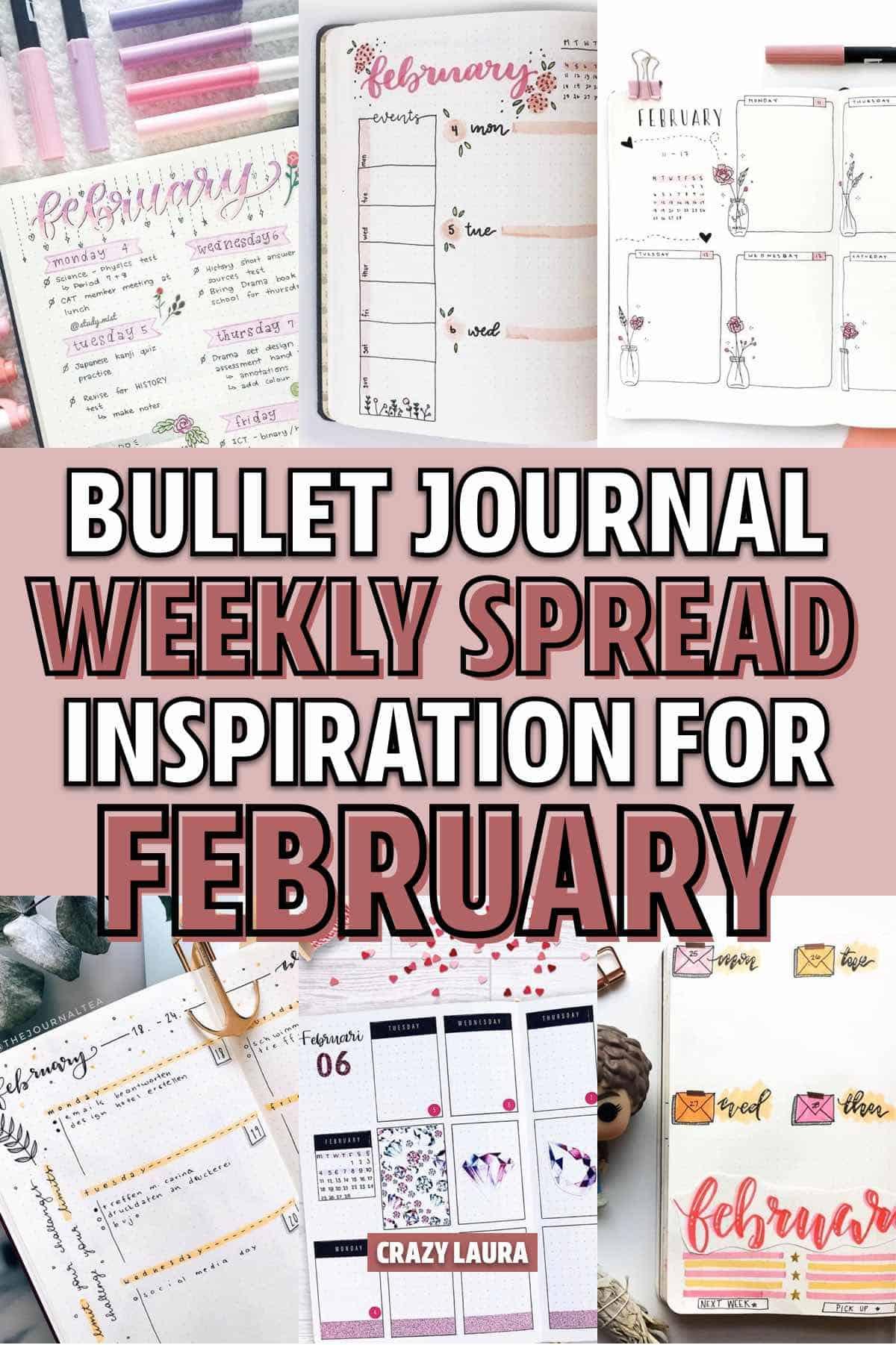 ideas for february bullet journal