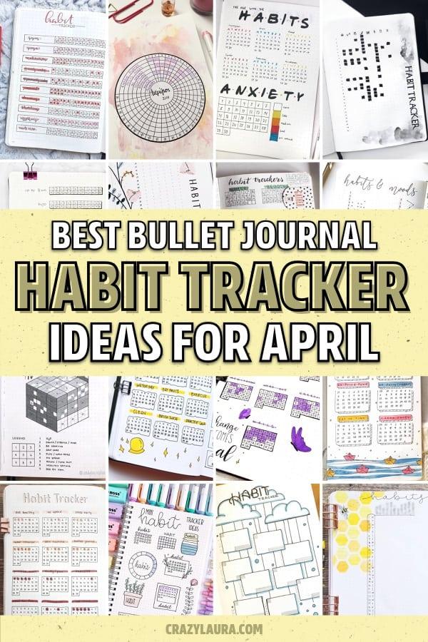 best april habit tracker inspiration