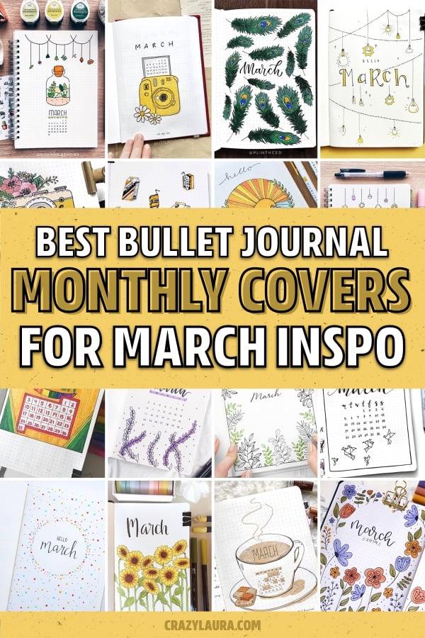 creative march bujo cover ideas