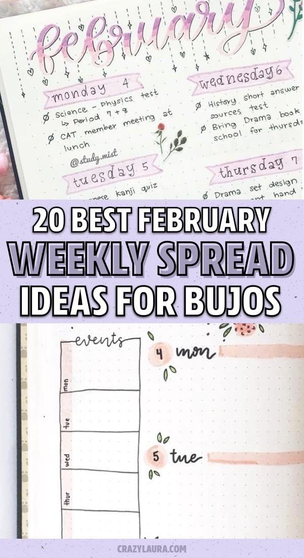 february bujo inspiration