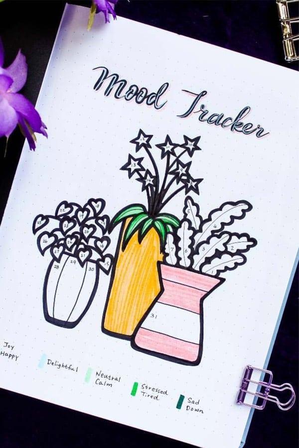 flower theme mood spread