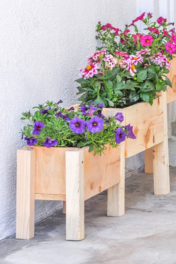 multiple size wood planter