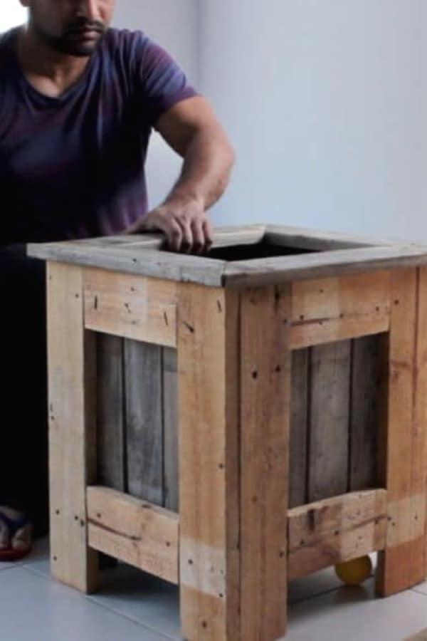 pallet box planter box