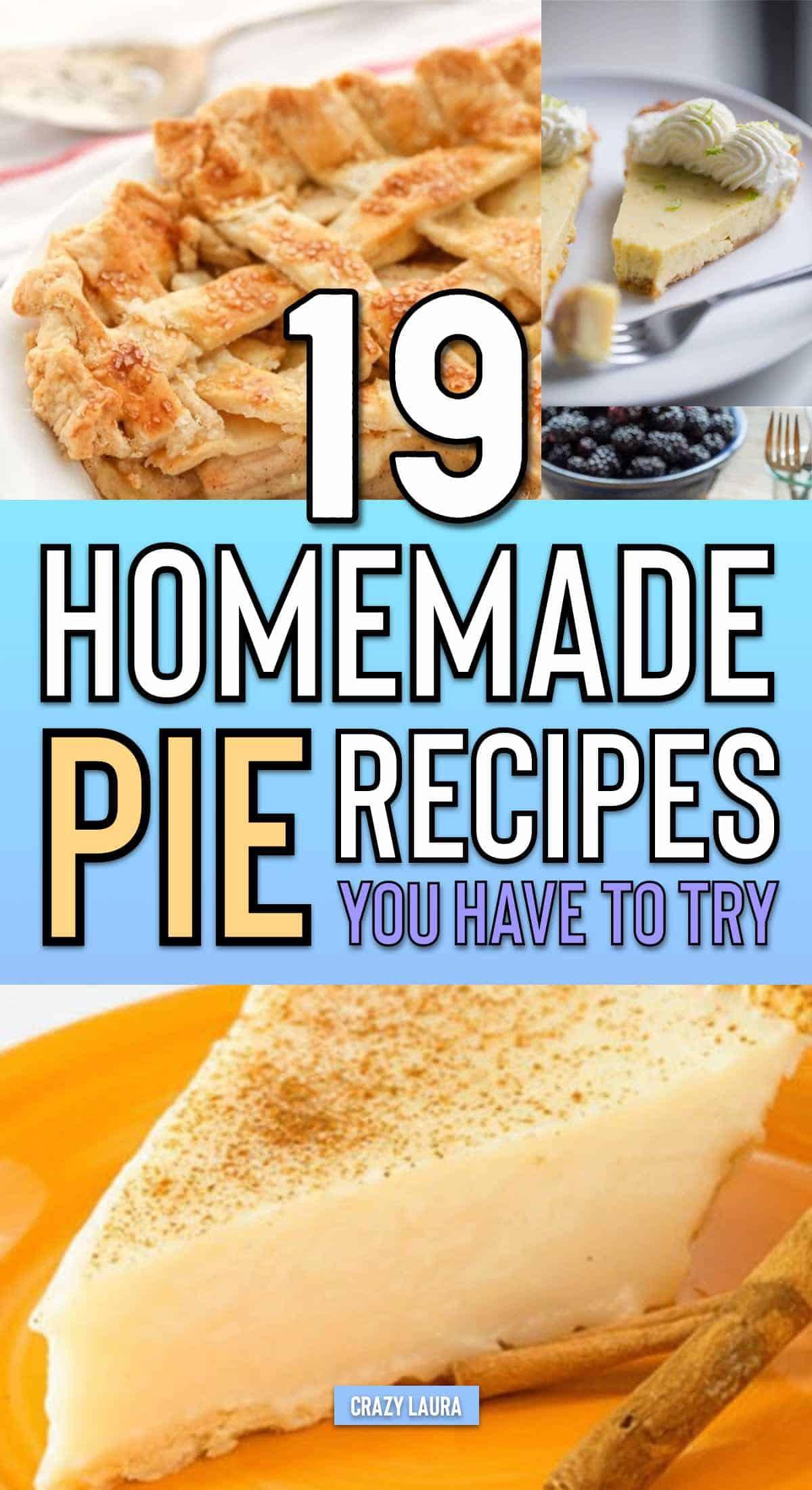 list of pie recipes