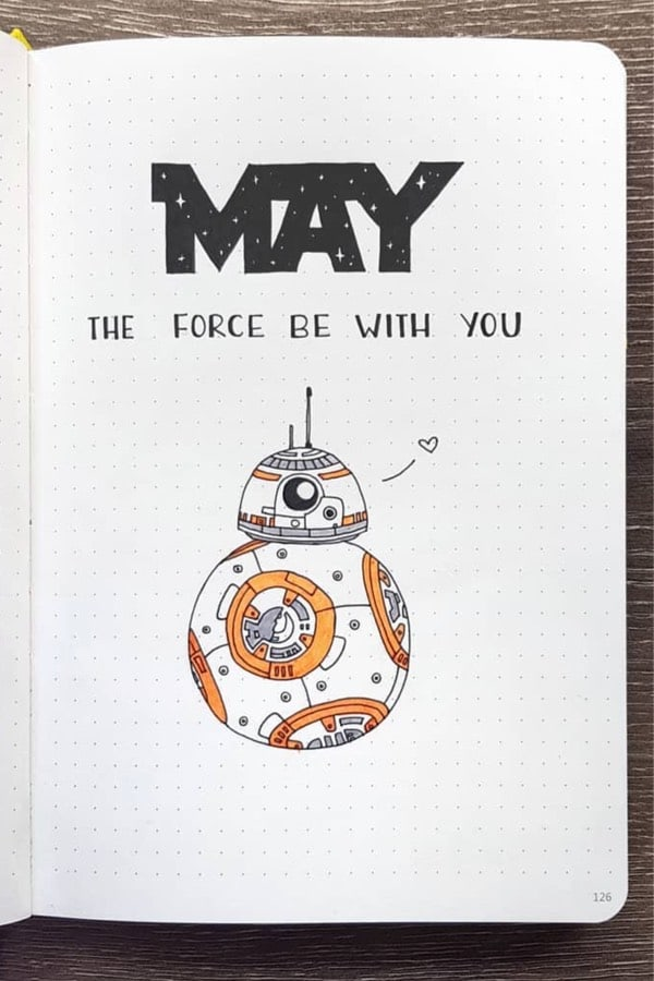 starwars bullet journal monthly cover