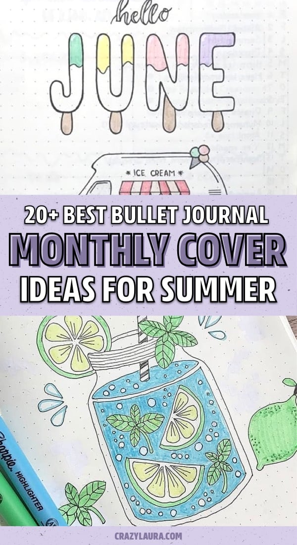 bujo cover ideas for june