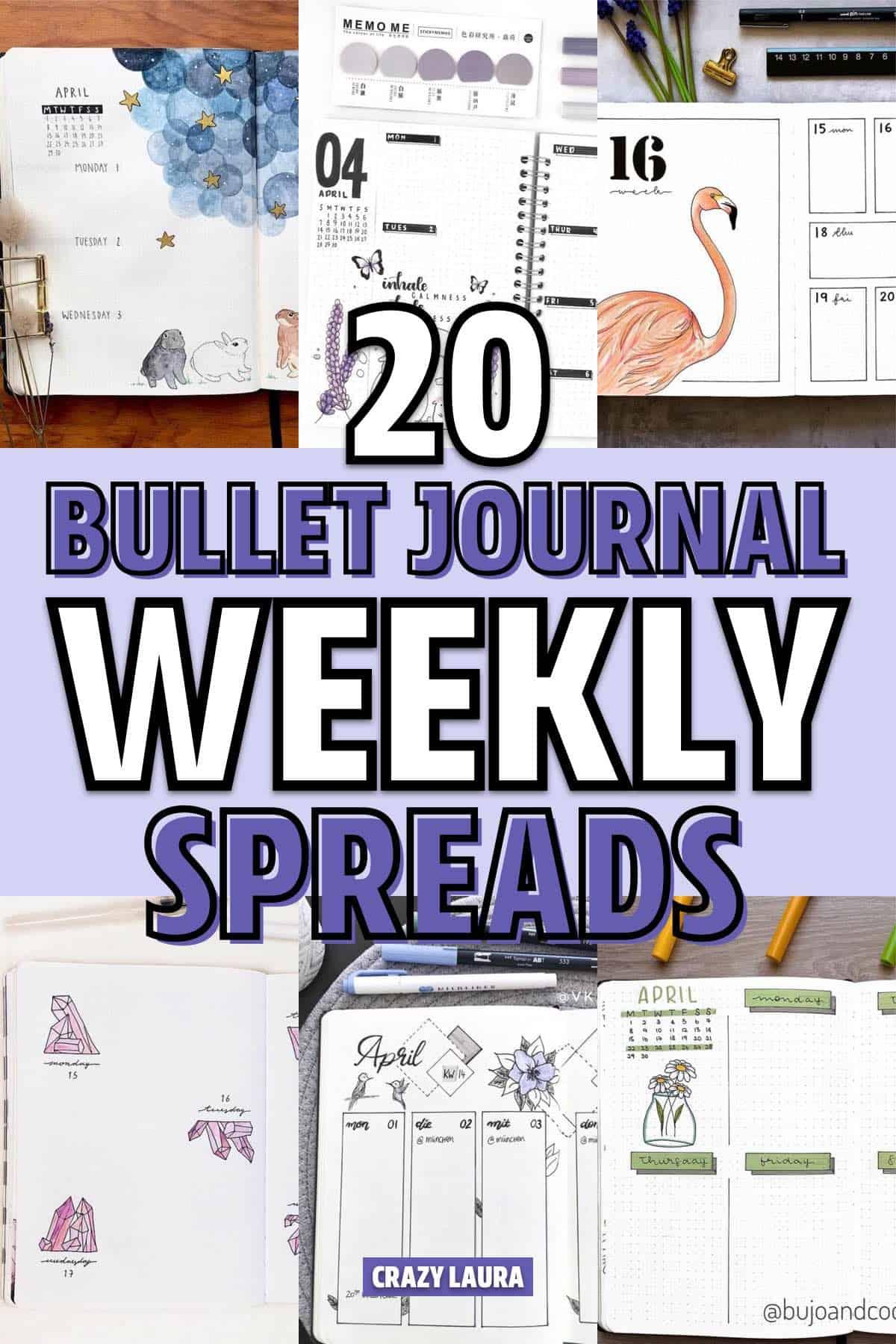 april bujo spread inspiration